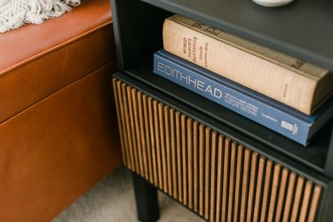Wood dowel rods give this side table modern edge.
