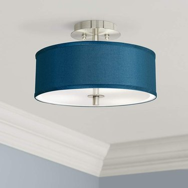 faux silk semi-flush mount