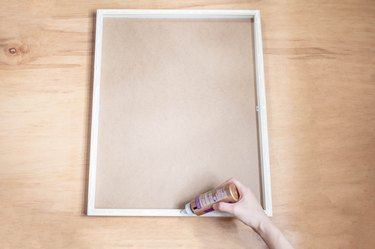 Piping glue around frame