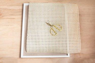 Cane webbing cut to frame size