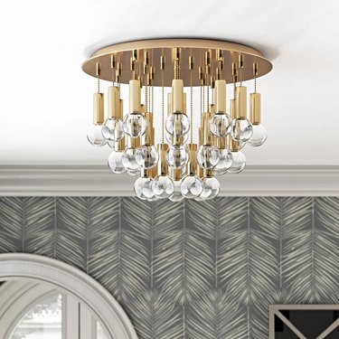 chandelier flush mount