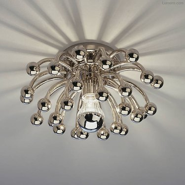 bulb chandelier flush mount