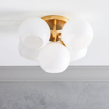 bulb flush mount ceiling light