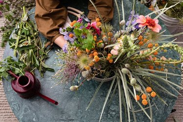 Seasonal floral arrangement.