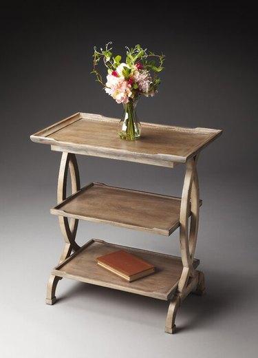 farmhouse end table idea tiered farmhouse tray table
