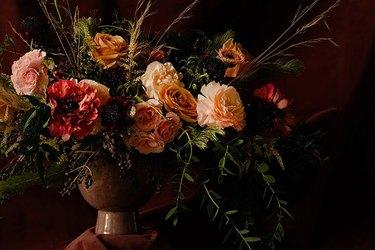 Moody floral print.