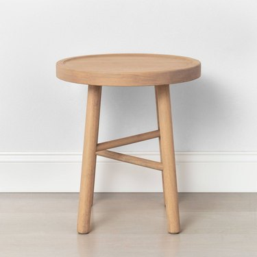 light wood accent stool