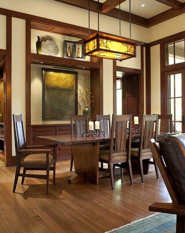 Mission Style Dining Room Lighting Ideas Alchemy Interiors