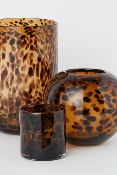 Tortoiseshell candle holders from H&M Home's 2020 collection
