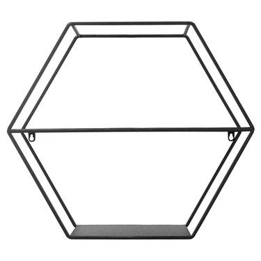 Black wire hexagonal shelf