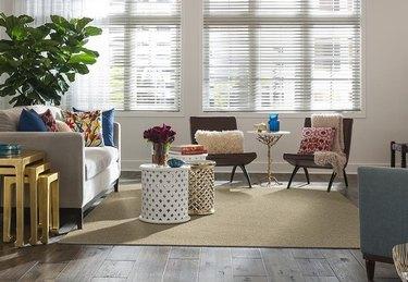 carpet tile area rug in living room