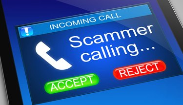 Scammer calling.