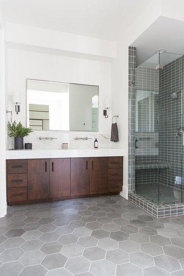 gray shower tile ideas studio mcgee