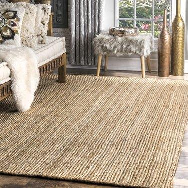 braided jute area rug