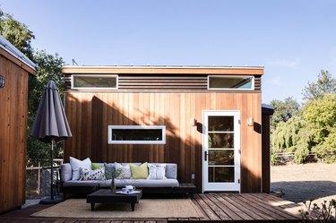 Sol Haus Design tiny home outdoor patio area