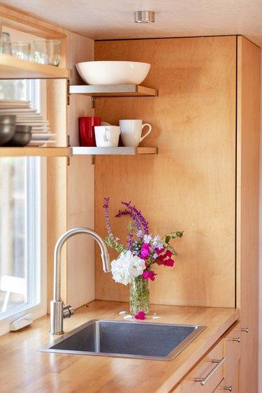 Sol Haus Design tiny home kitchen sink