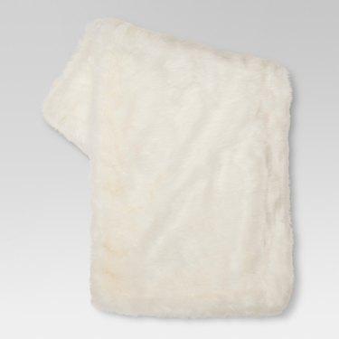 Threshold Faux Fur Throw Blanket