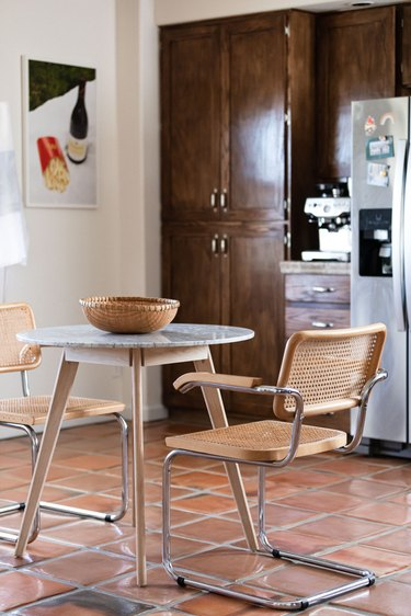 Cesca Chair in kitchen around small table