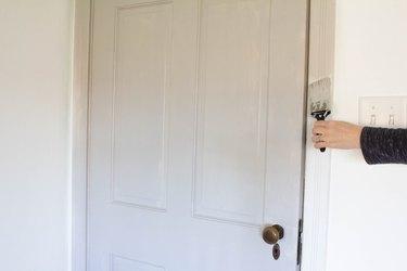 Painting door trim