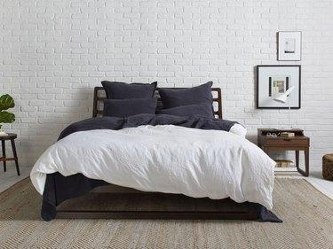 farmhouse bedding idea with linen duvet cover from Parachute