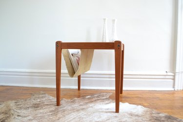 1965 Danish Modern Magazine Rack, $125.36