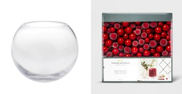 Round Vase and Red Filler Berries