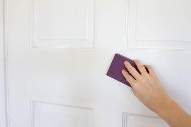 Sanding a door