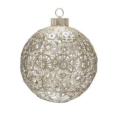 light-up metal ball outdoor Christmas decor