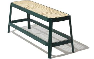 Cane Bench, $585