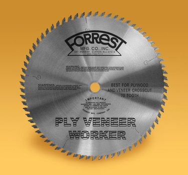 Saw blade for plywood.