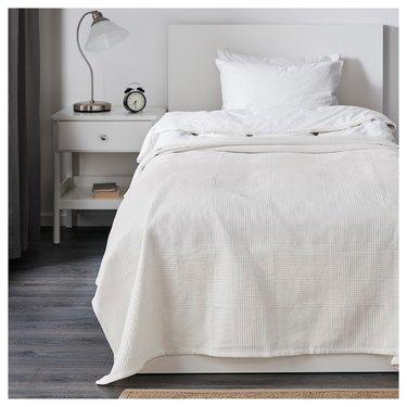 farmhouse bedding idea from IKEA with Indira Cotton Bedspread