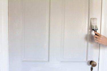 Painting an interior door
