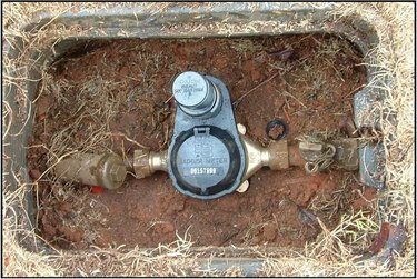 water meter in ground box