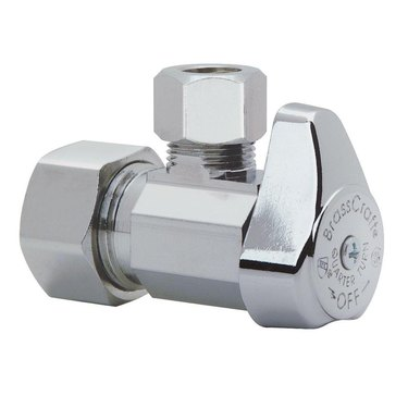 Quarter-turn toilet shutoff valve