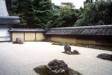 Ryoanji garden in Kyoto.