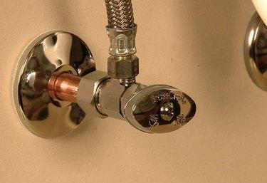 toilet shutoff valve installed