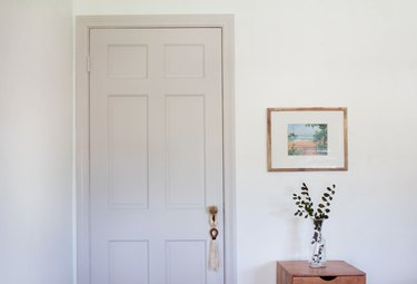 Painted bedroom door