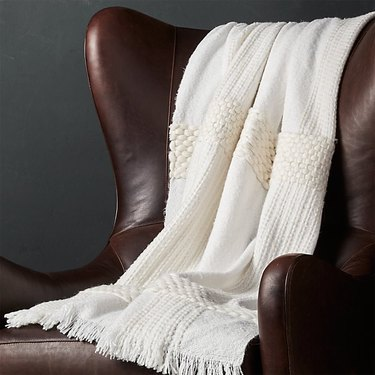 Crate and Barrel Covello Chunky Throw Blanket, $69.95
