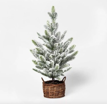 Threshold Faux Flocked Pine Tree, $24.99