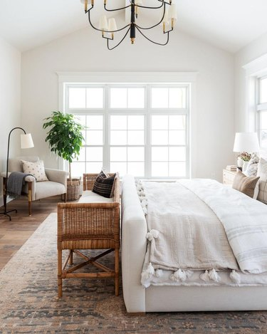 farmhuse bedding idea with Swedesboro Coverlet from McGee & Co.