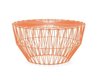 orange wire coffee table