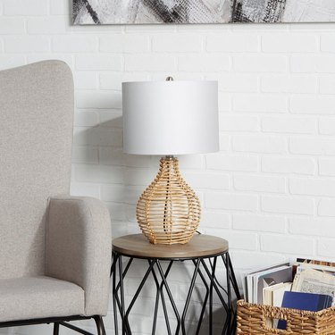 woven table lamp