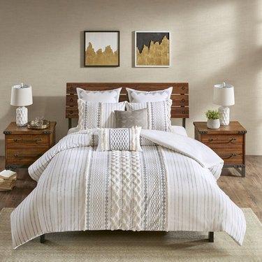 geometric boho bedding