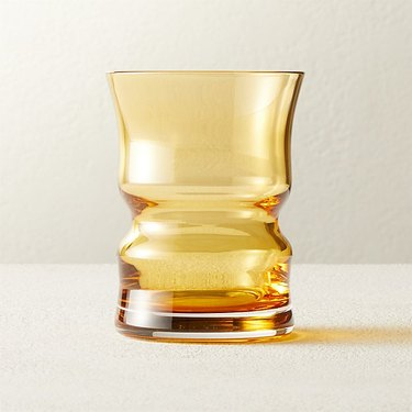 yellow old-fashioned glass