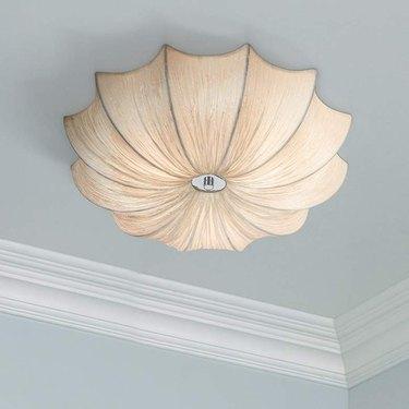 scalloped fabric light fixture