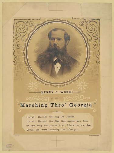 Image of sheet music featuring Henry Clay Work