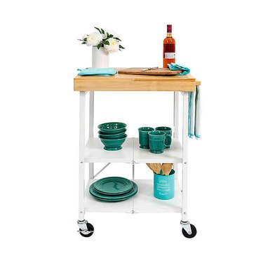 folding kitchen cart with wheels