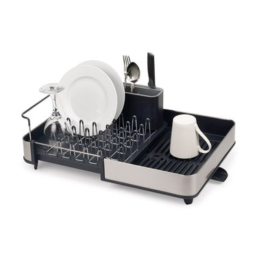 expandable steel dish rack for small kitchen