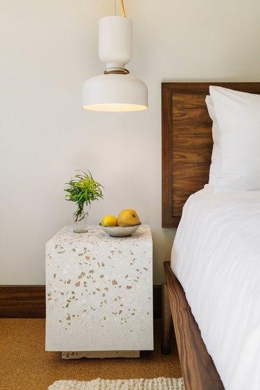 Silver Lake Inn bedroom terrazzo nightstand