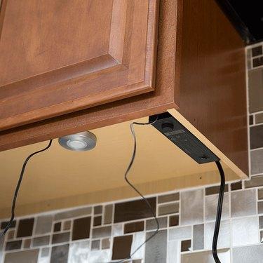 under-cabinet light wiring